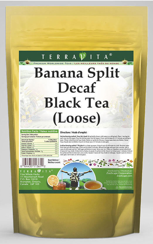 Banana Split Decaf Black Tea (Loose)