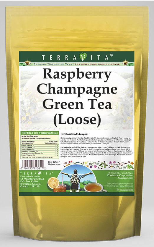 Raspberry Champagne Green Tea (Loose)
