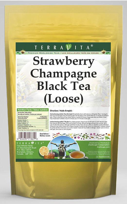 Strawberry Champagne Black Tea (Loose)