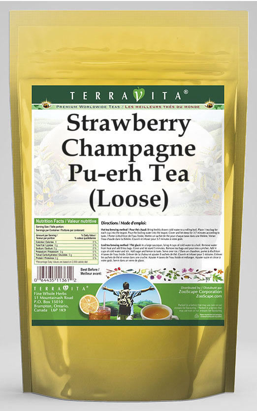 Strawberry Champagne Pu-erh Tea (Loose)