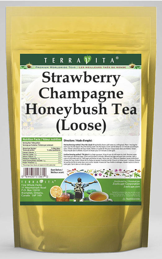 Strawberry Champagne Honeybush Tea (Loose)