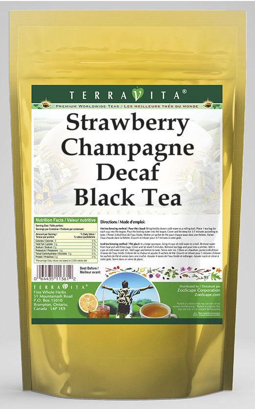 Strawberry Champagne Decaf Black Tea