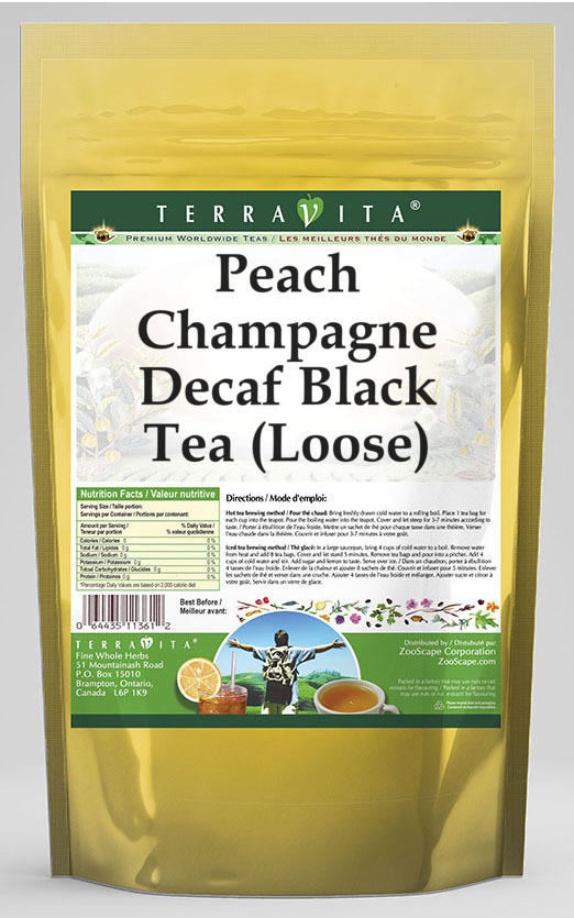 Peach Champagne Decaf Black Tea (Loose)