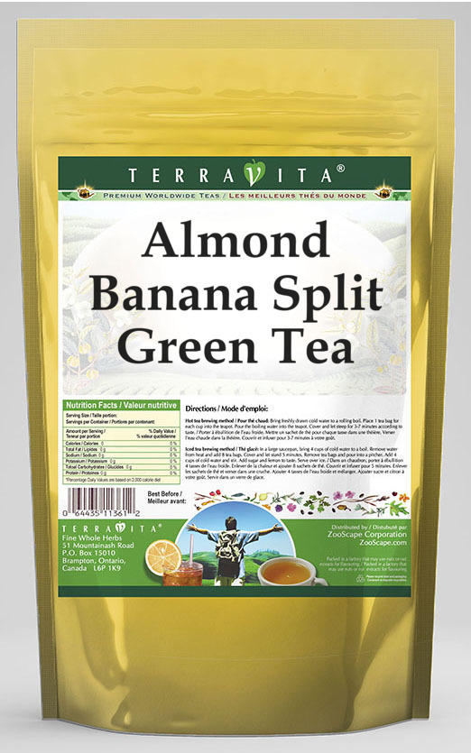 Almond Banana Split Green Tea