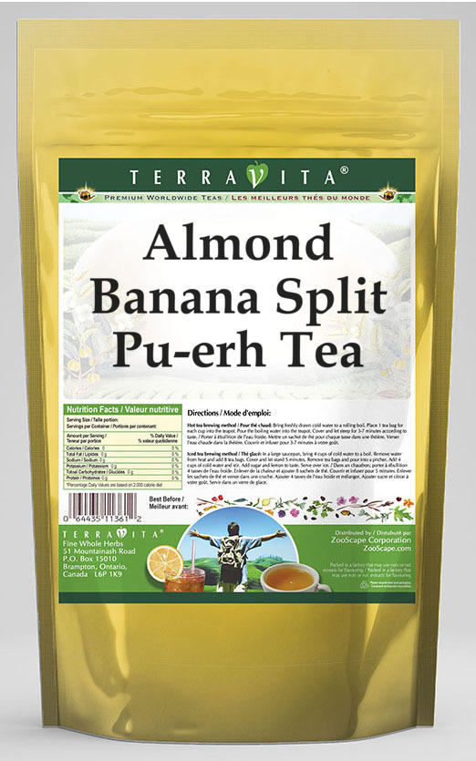 Almond Banana Split Pu-erh Tea