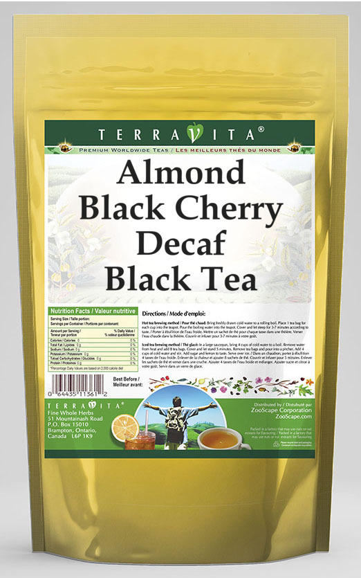 Almond Black Cherry Decaf Black Tea