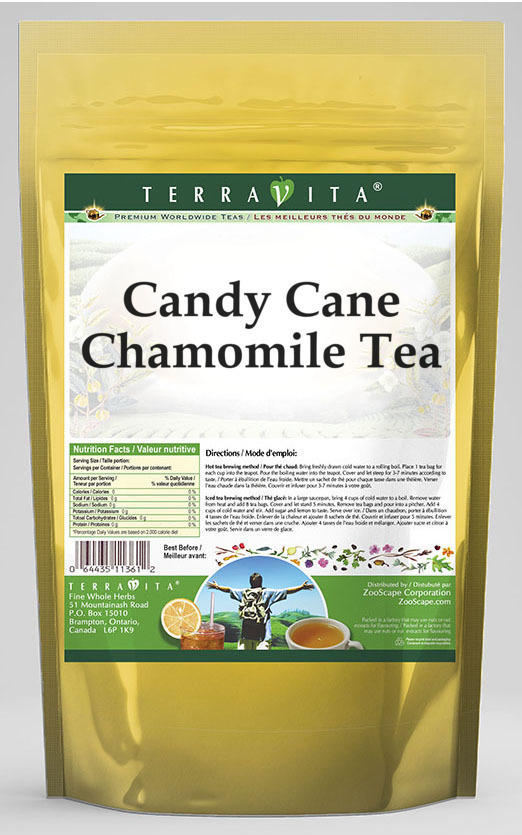 Candy Cane Chamomile Tea