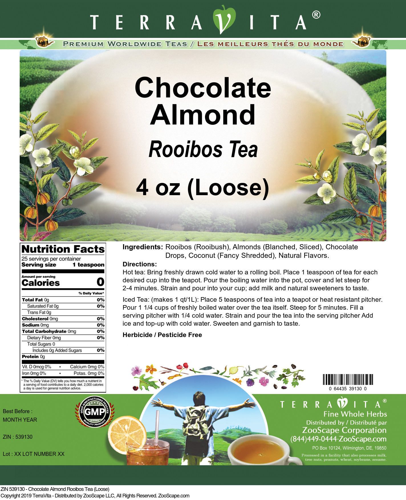 Chocolate Almond Rooibos Tea