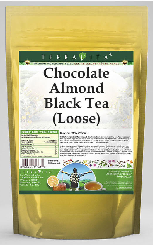 Chocolate Almond Black Tea (Loose)