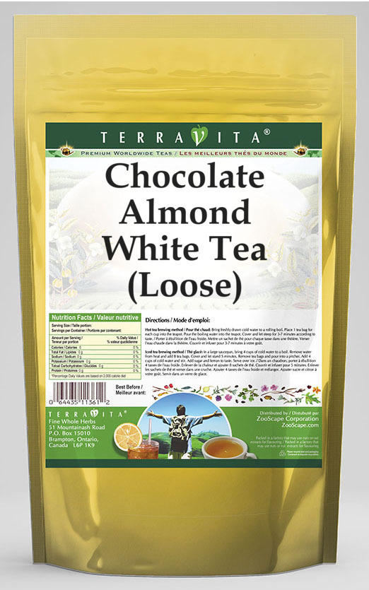 Chocolate Almond White Tea (Loose)