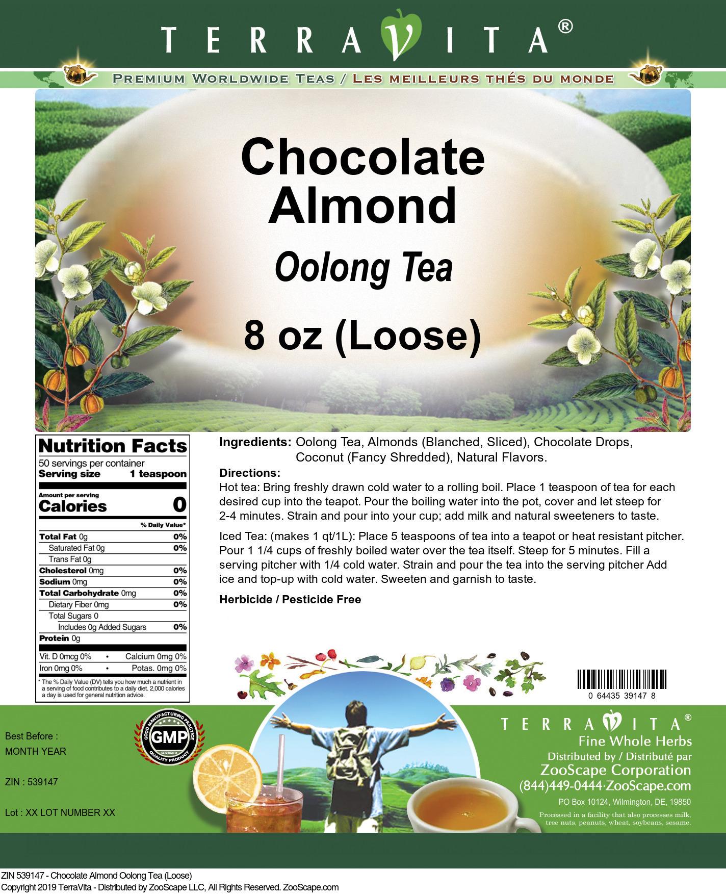 Chocolate Almond Oolong Tea (Loose)
