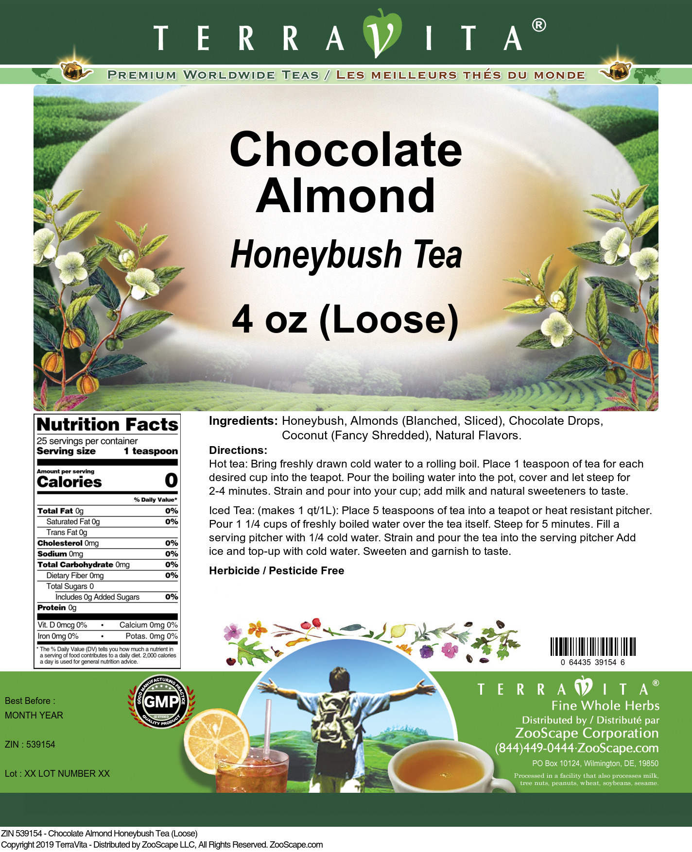 Chocolate Almond Honeybush Tea (Loose)