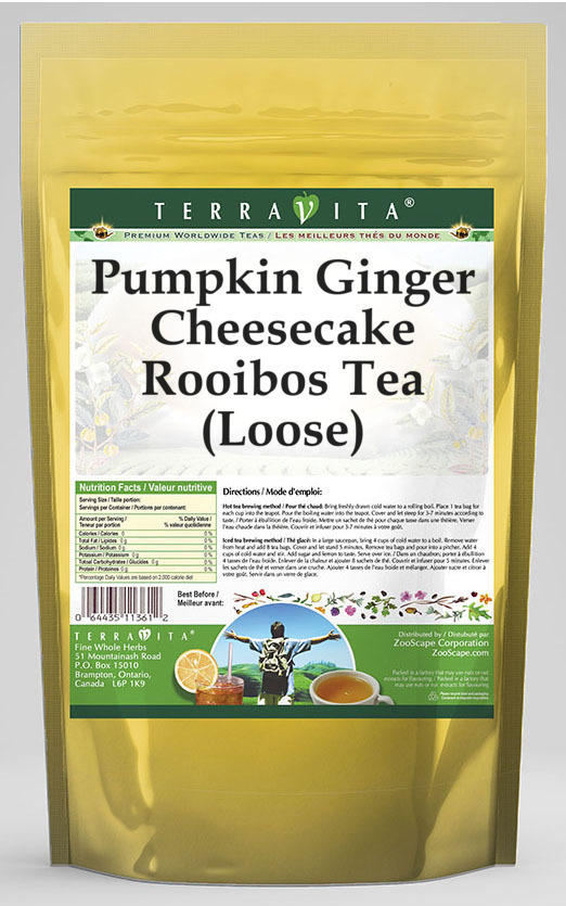 Pumpkin Ginger Cheesecake Rooibos Tea (Loose)