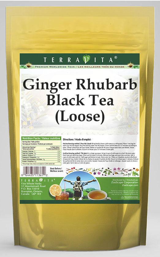 Ginger Rhubarb Black Tea (Loose)