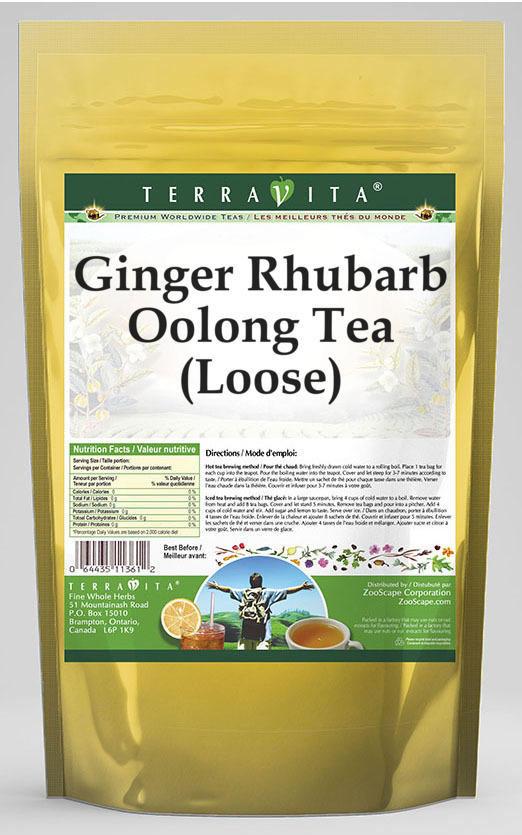 Ginger Rhubarb Oolong Tea (Loose)