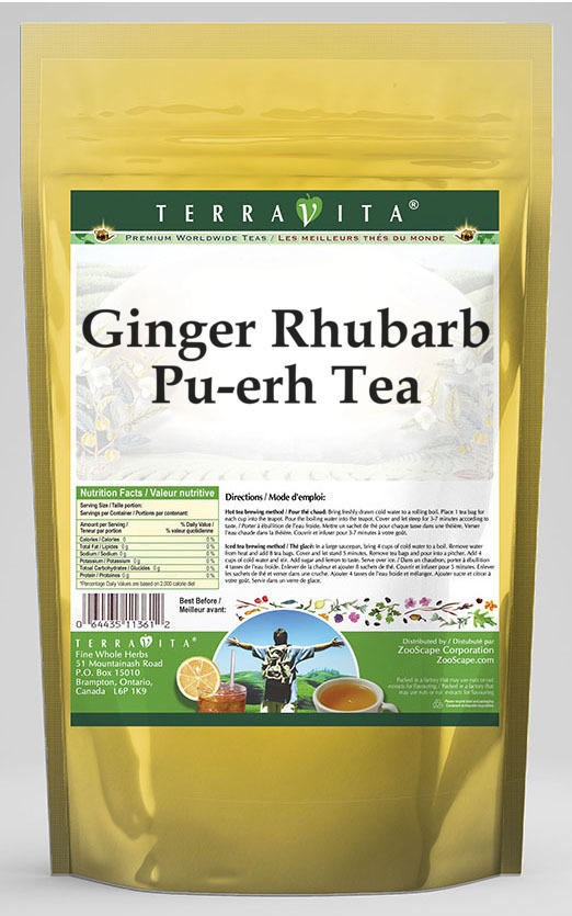 Ginger Rhubarb Pu-erh Tea