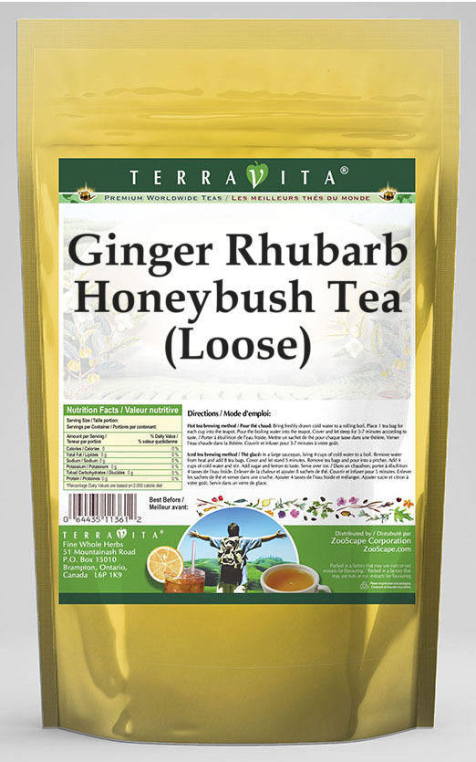 Ginger Rhubarb Honeybush Tea (Loose)