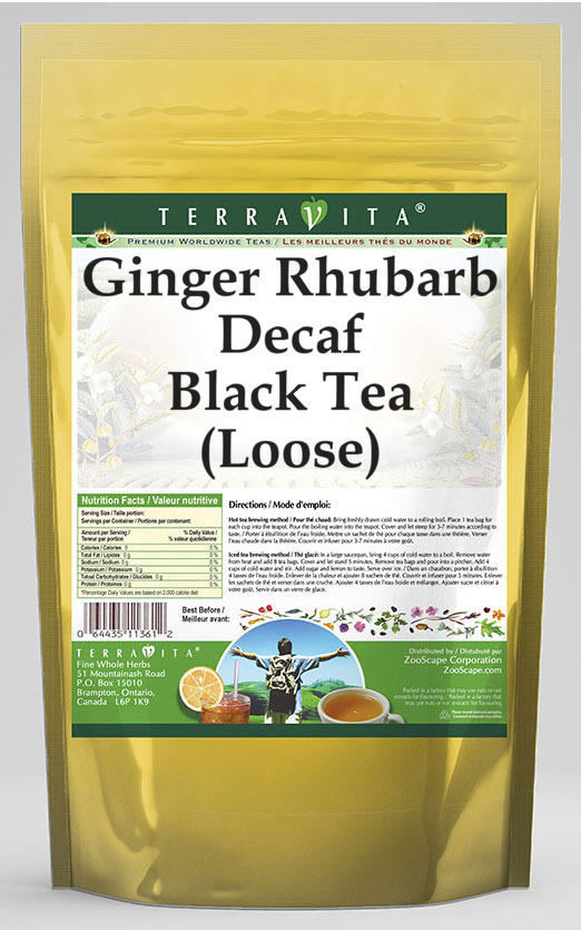 Ginger Rhubarb Decaf Black Tea (Loose)