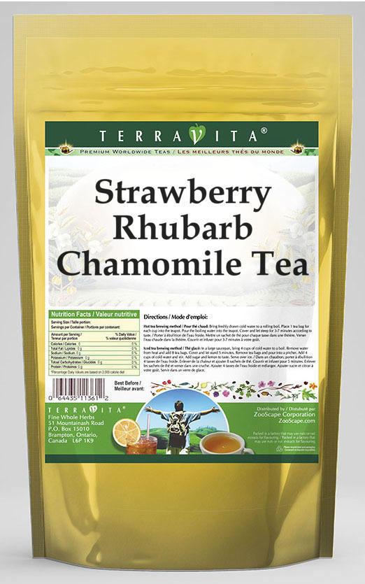 Strawberry Rhubarb Chamomile Tea