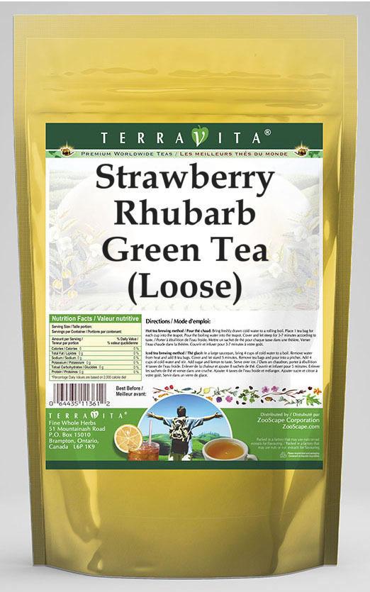 Strawberry Rhubarb Green Tea (Loose)