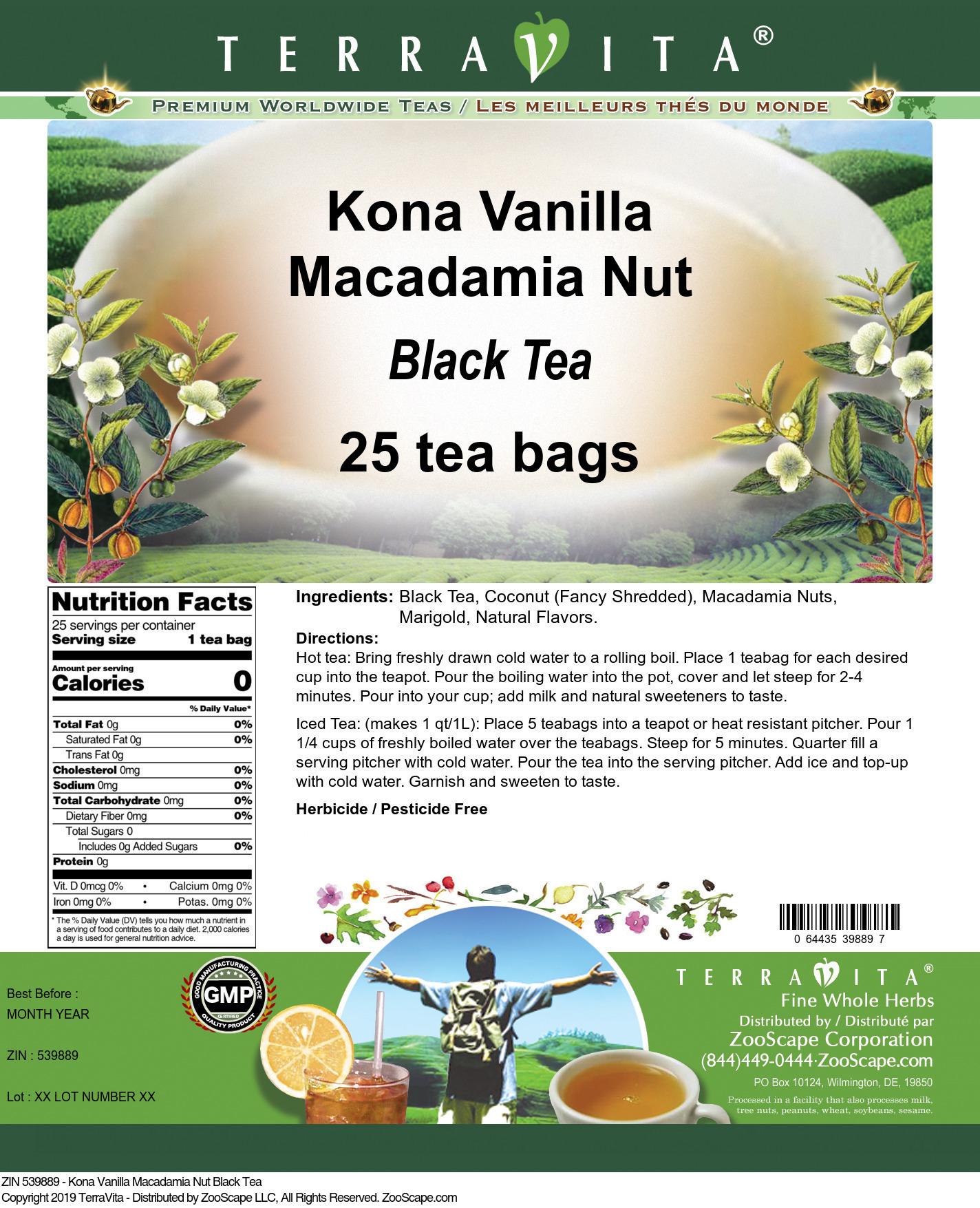 Kona Vanilla Macadamia Nut Black Tea