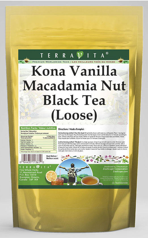 Kona Vanilla Macadamia Nut Black Tea (Loose)