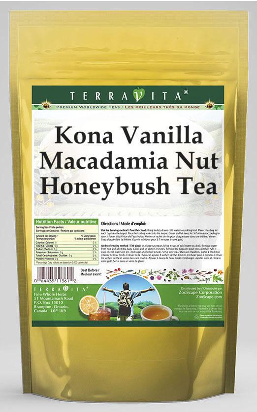 Kona Vanilla Macadamia Nut Honeybush Tea