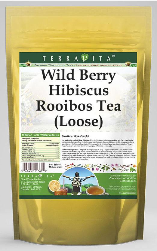 Wild Berry Hibiscus Rooibos Tea (Loose)
