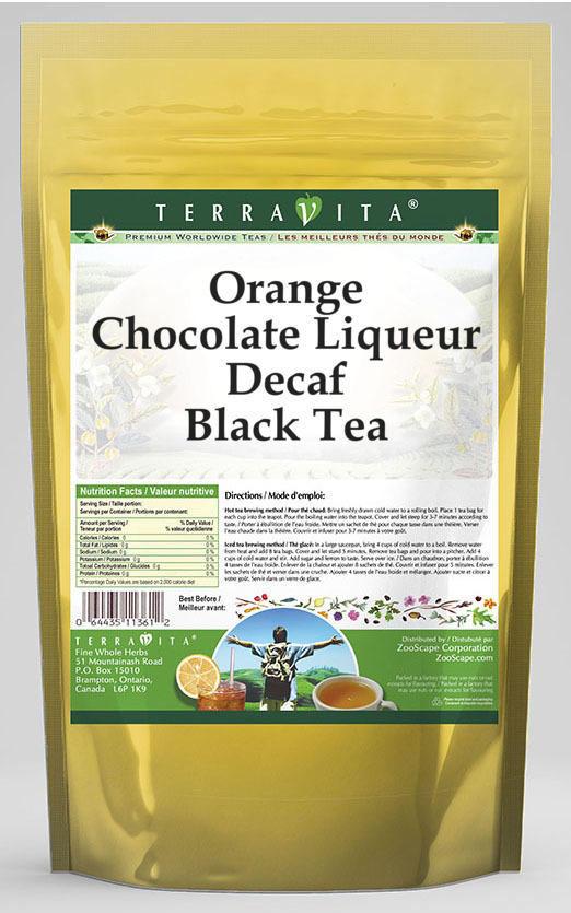 Orange Chocolate Liqueur Decaf Black Tea