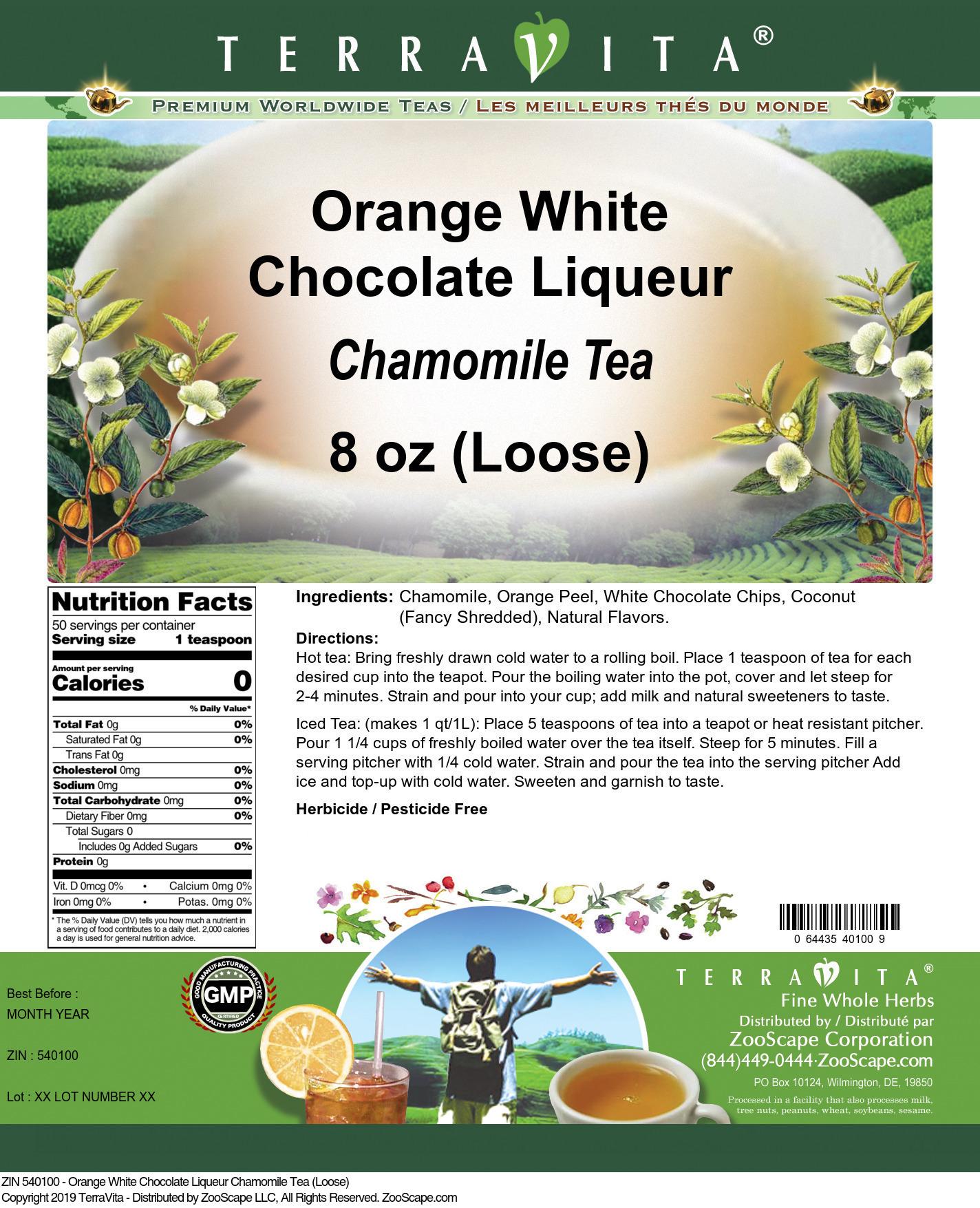 Orange White Chocolate Liqueur Chamomile Tea