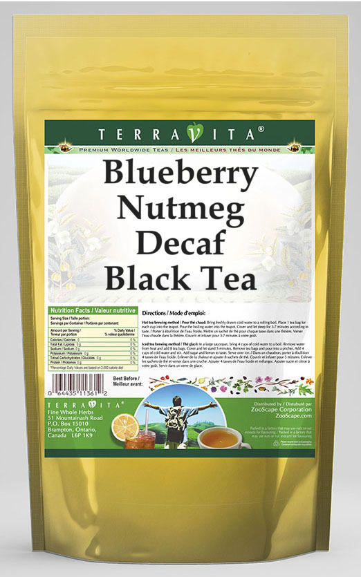 Blueberry Nutmeg Decaf Black Tea