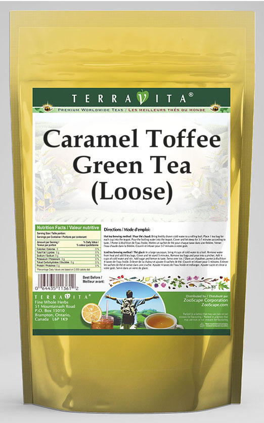 Caramel Toffee Green Tea (Loose)