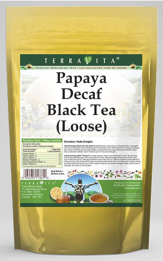 Papaya Decaf Black Tea (Loose)
