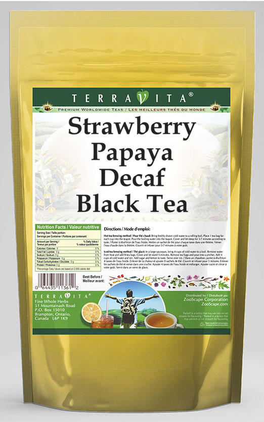 Strawberry Papaya Decaf Black Tea