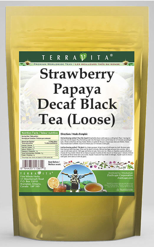 Strawberry Papaya Decaf Black Tea (Loose)