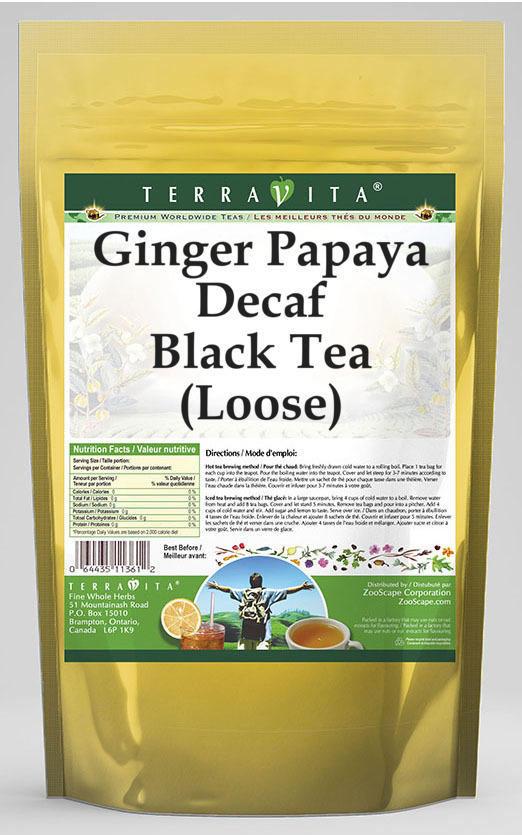 Ginger Papaya Decaf Black Tea (Loose)