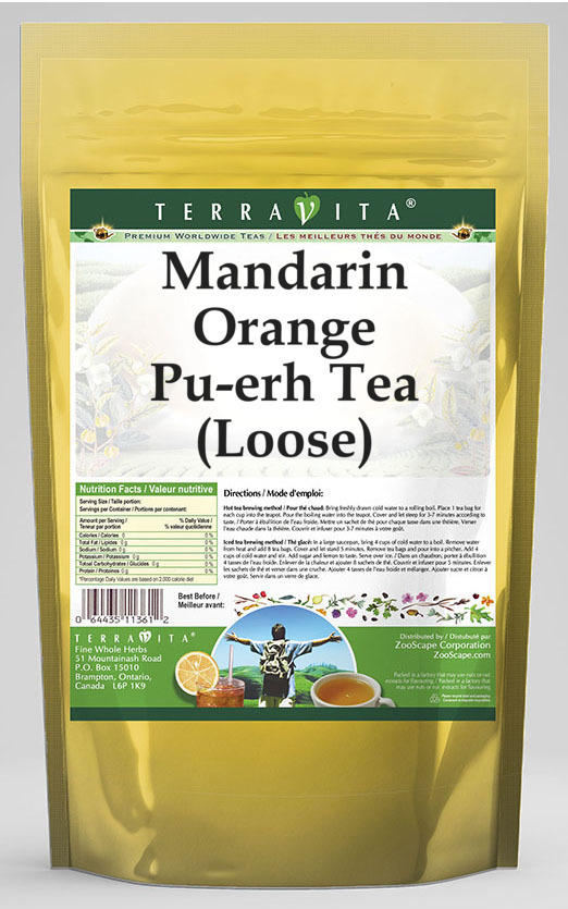 Mandarin Orange Pu-erh Tea (Loose)