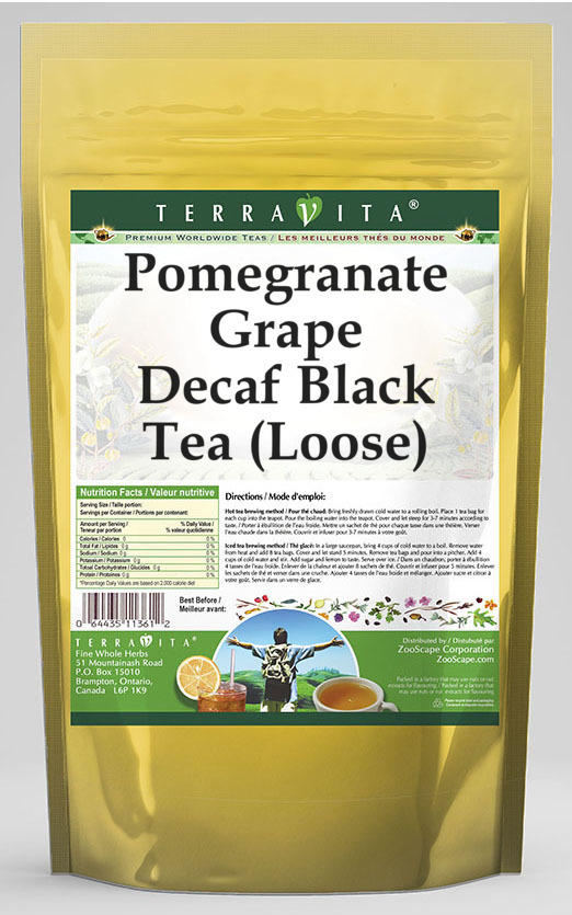 Pomegranate Grape Decaf Black Tea (Loose)