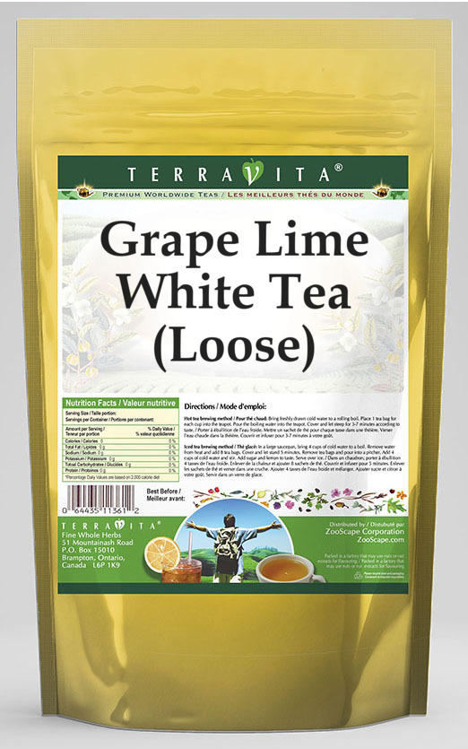 Grape Lime White Tea (Loose)