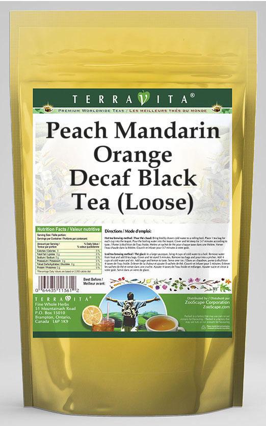 Peach Mandarin Orange Decaf Black Tea (Loose)