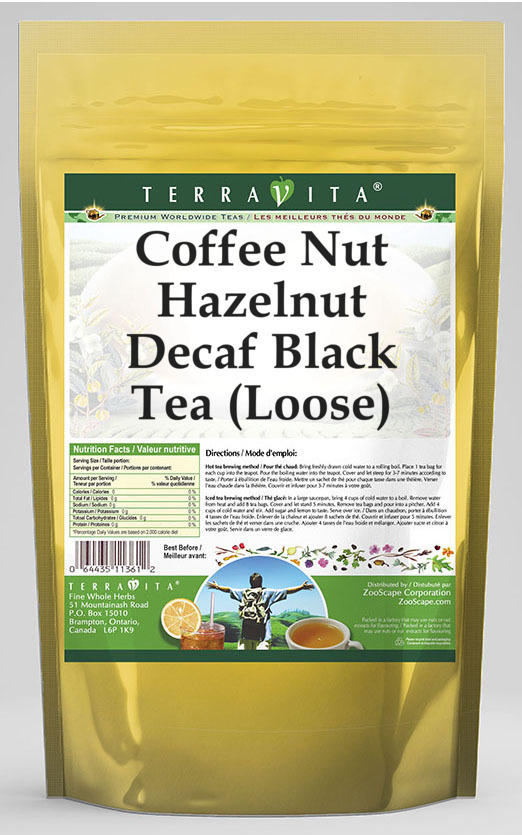 Coffee Nut Hazelnut Decaf Black Tea (Loose)