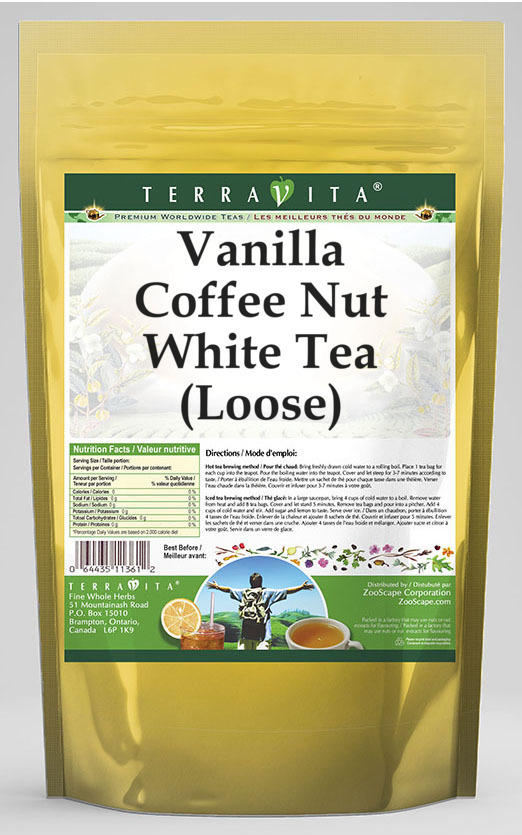 Vanilla Coffee Nut White Tea (Loose)