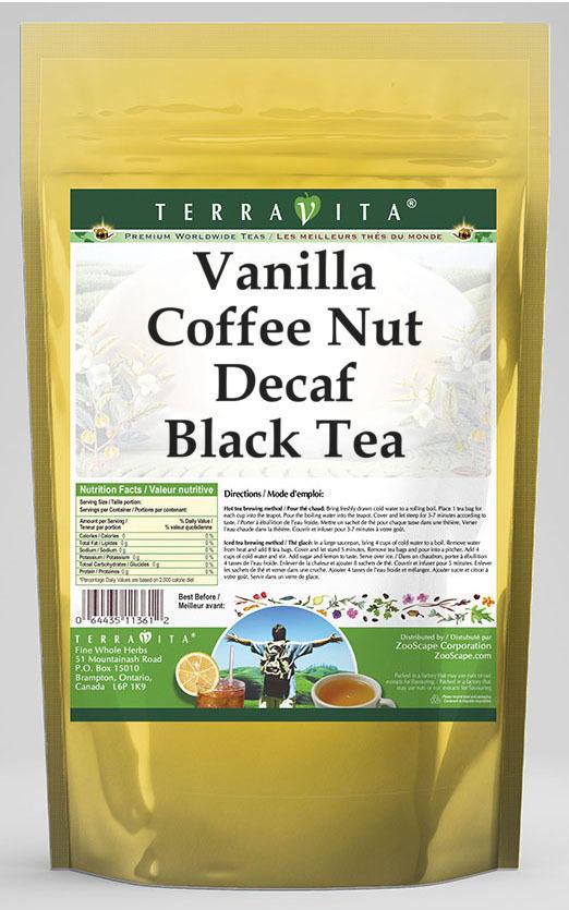 Vanilla Coffee Nut Decaf Black Tea