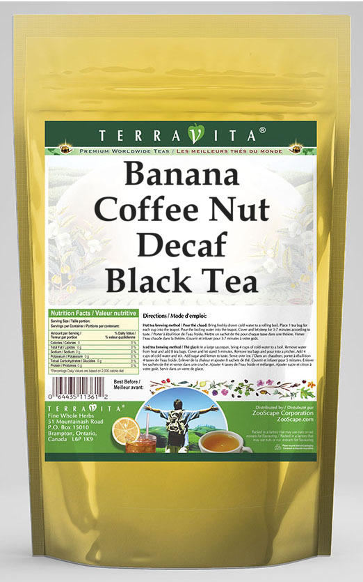 Banana Coffee Nut Decaf Black Tea