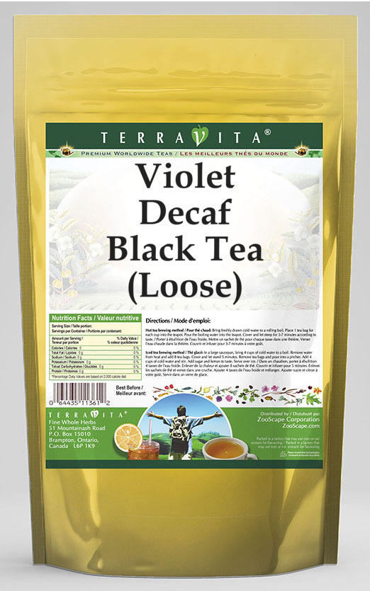 Violet Decaf Black Tea (Loose)