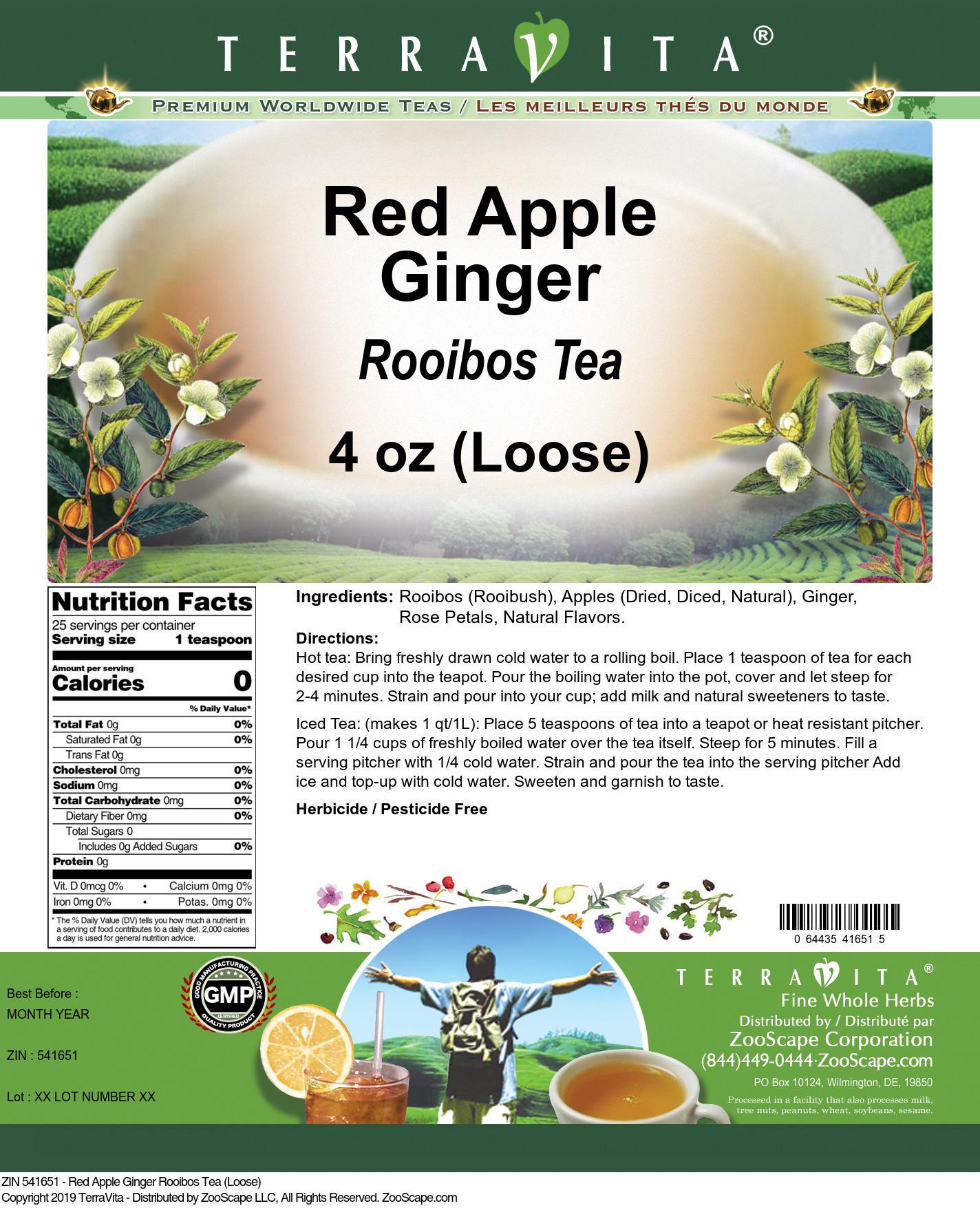 Red Apple Ginger Rooibos Tea (Loose)