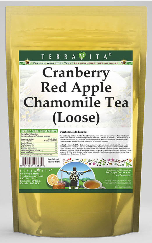 Cranberry Red Apple Chamomile Tea (Loose)