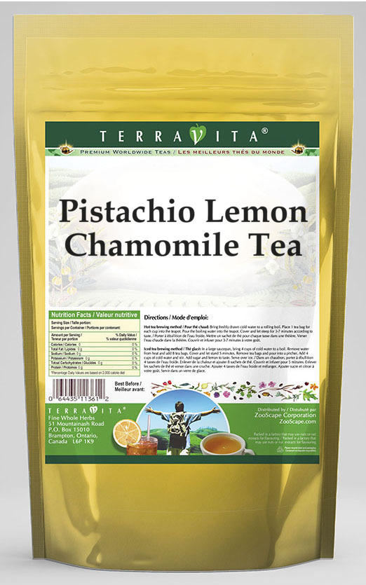 Pistachio Lemon Chamomile Tea