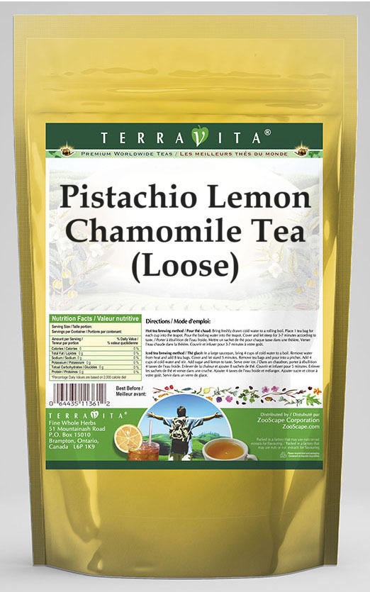 Pistachio Lemon Chamomile Tea (Loose)