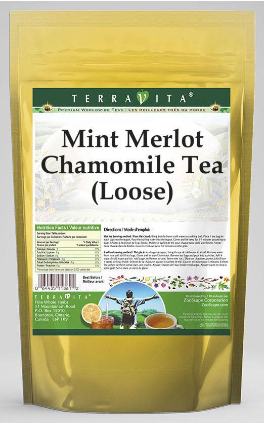 Mint Merlot Chamomile Tea (Loose)